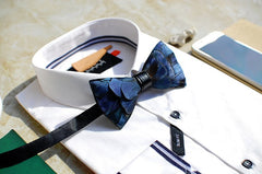 Blue Feather Bow Tie - Bowties - 2
