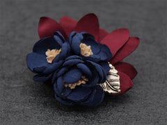 Dark Blue Lapel Flower Clip - Bowties - 2