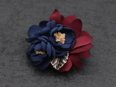 Dark Blue Lapel Flower Clip - Bowties - 3