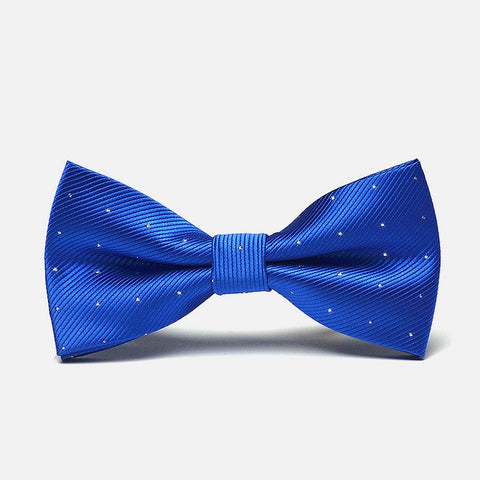 Blue Polka Formal Bow Tie - Bowties