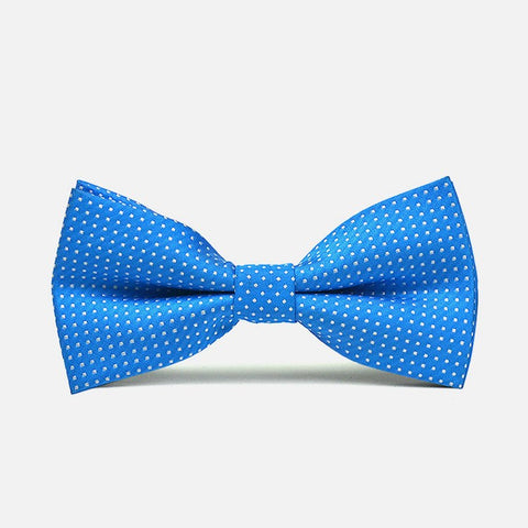Blue Polka Dot Bow Tie - Bowties