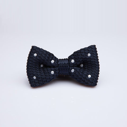 Blue Polka Kids Bow Tie - Bowties - 1