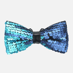 Blue Sequin Bow Tie - Bowties