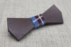 Bold Dark Wood Bow Tie - Bowties - 3