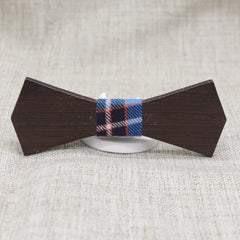 Bold Dark Wood Bow Tie - Bowties - 1