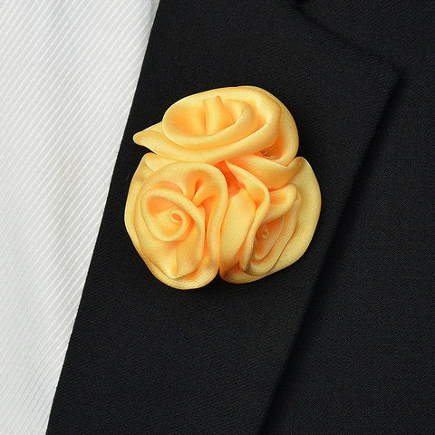Satin Lapel Pin Yellow - Bowties - 1