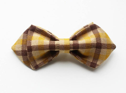 Brown & Yellow Boys Bow Tie - Bowties - 1