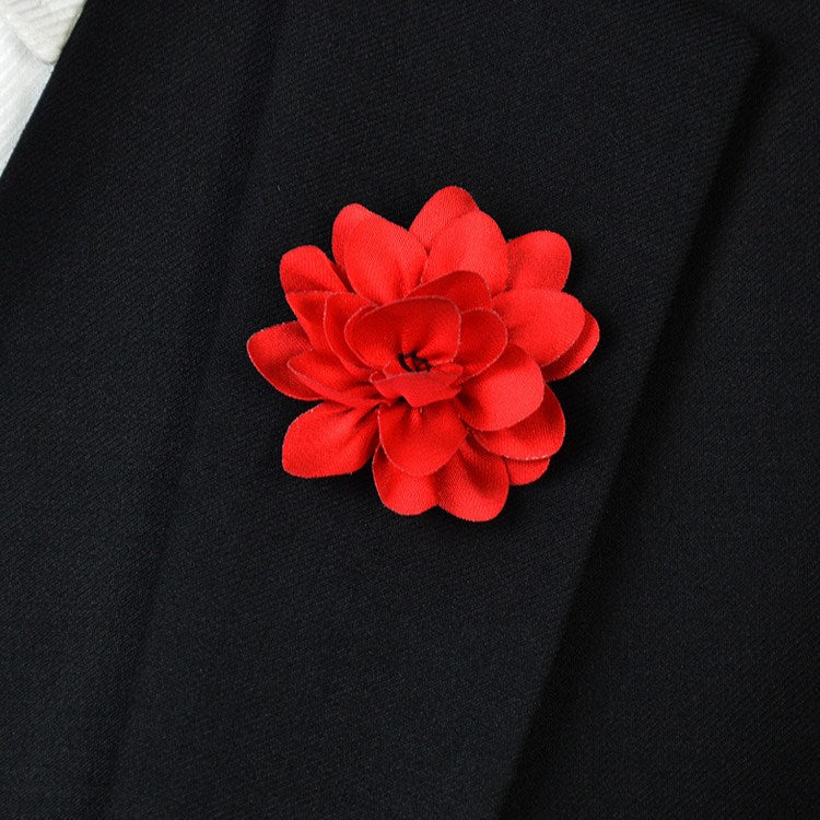 Cerise Flower Lapel Pin - Bowties - 1