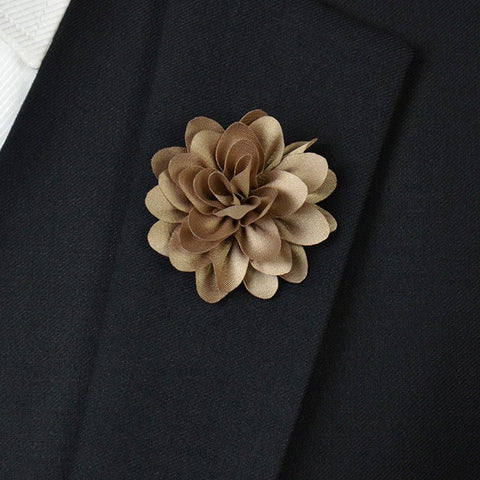 Champaign Flower Lapel Pin - Bowties - 1