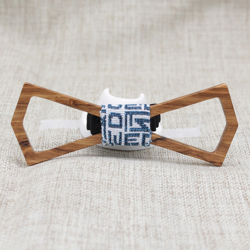 Chestnut Hollow Tip Wood Bow Tie - Bowties - 1