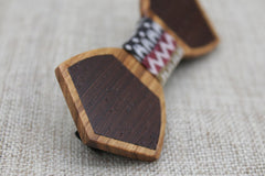 Classy Mismatch Wooden Bow Tie - Bowties - 2