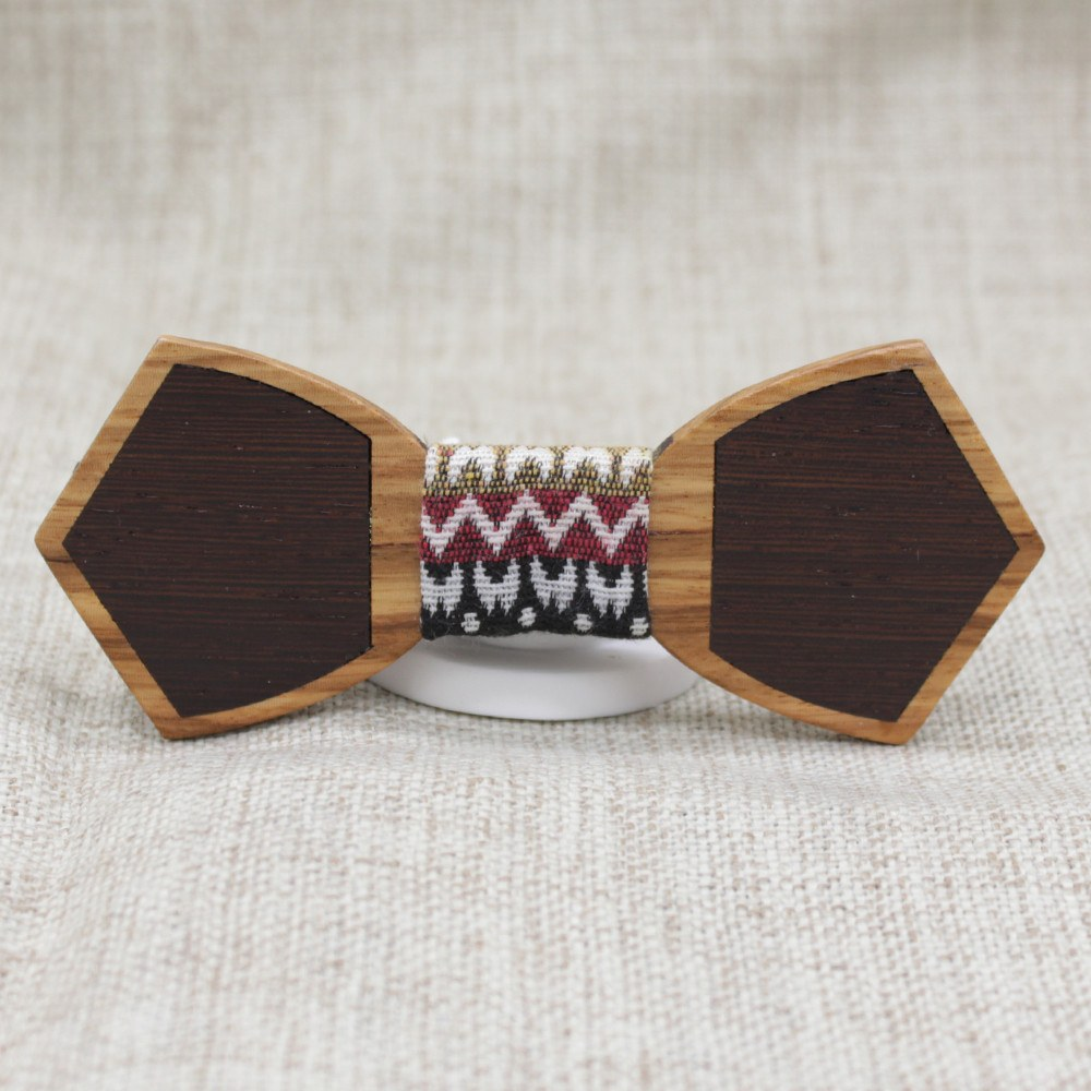 Classy Mismatch Wooden Bow Tie - Bowties - 1