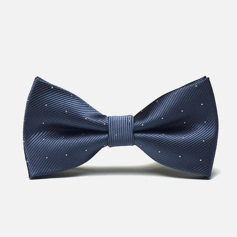Gray Polka Formal Bow Tie - Bowties