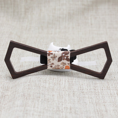 Dark Hollow Diamond Wood Bow Tie - Bowties - 1