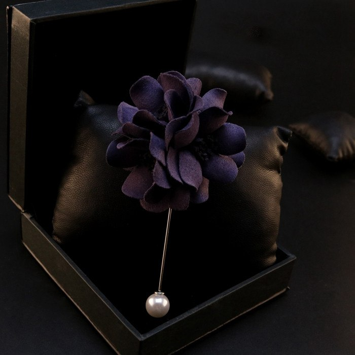Urbane Dark Purple Lapel Flower - Bowties - 1