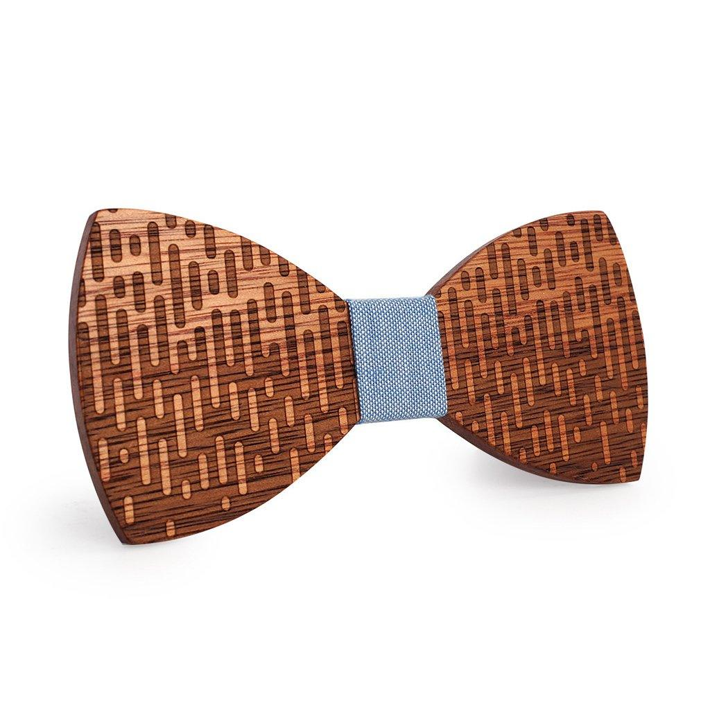 Dripping Wooden Bow Tie
