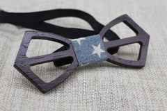 Ebony Cross Wooden Bow Tie - Bowties - 4