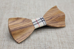 Elegant Slim Wooden Bow Tie - Bowties - 4