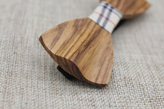 Elegant Slim Wooden Bow Tie - Bowties - 3