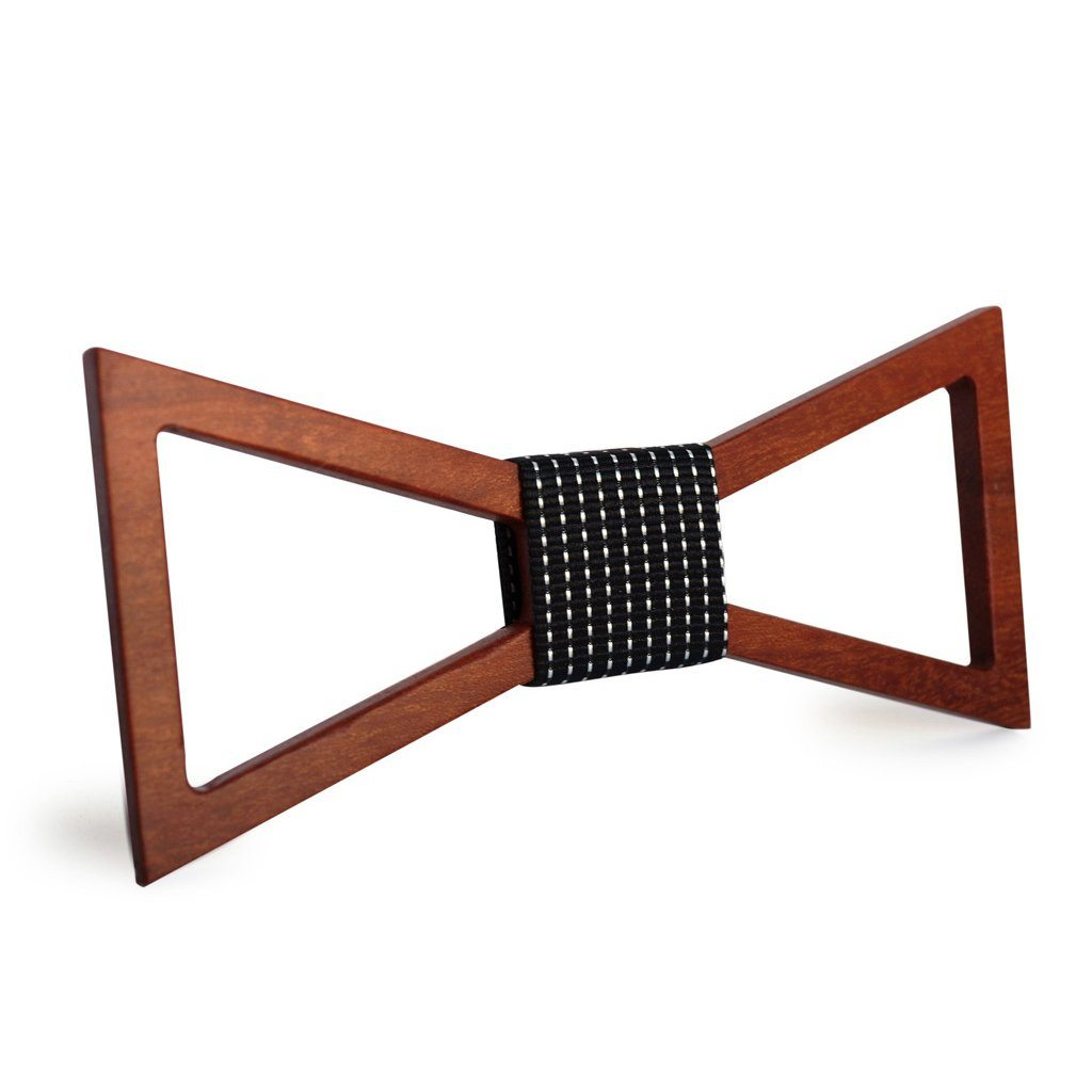 Fantasy Hollow Wooden Bow Tie
