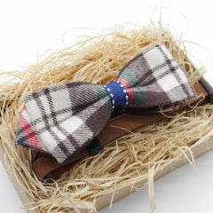 Flannel Touch Cat & Dog Bow Tie Collar