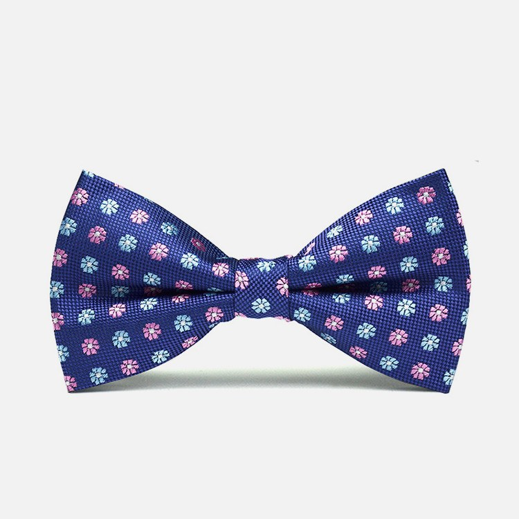 Floral Dotted Bow Tie - Bowties