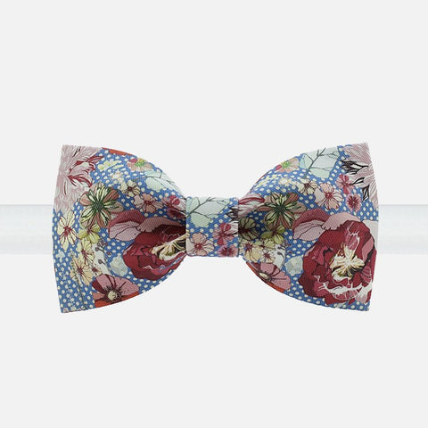 Flowery Polka Dot Bow Tie - Bowties - 1