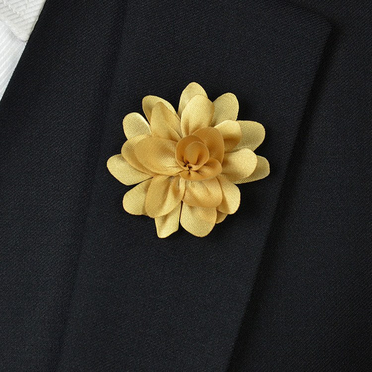 Gold Flower Lapel Pin - Bowties