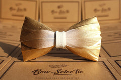 Gold Feather Bow Tie
