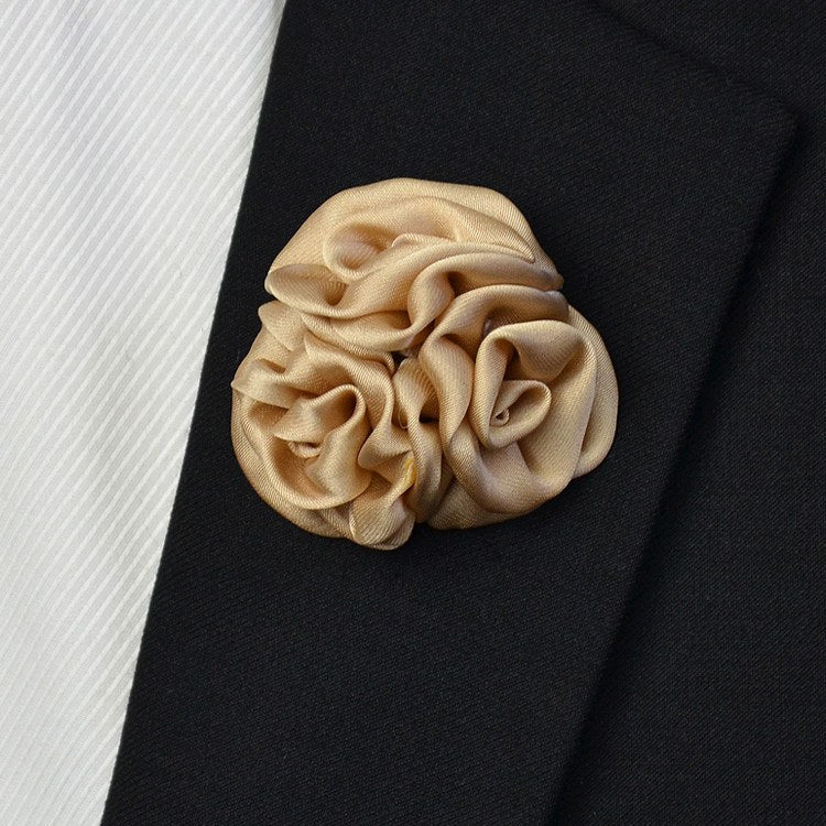 Satin Lapel Pin Golden - Bowties - 1