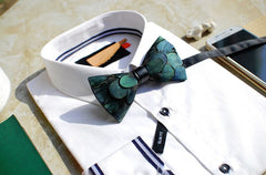 Green Feather Bow Tie - Bowties - 4
