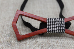 Hollow Slim Wooden Bow Tie - Bowties - 5