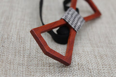 Hollow Slim Wooden Bow Tie - Bowties - 3