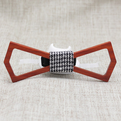 Hollow Slim Wooden Bow Tie - Bowties - 1
