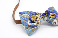 Lapis Blue Cat & Dog Bow Tie Collar