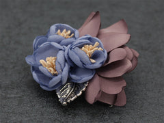 Blue Lapel Flower Clip - Bowties - 3
