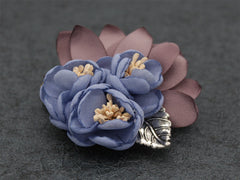 Blue Lapel Flower Clip - Bowties - 2