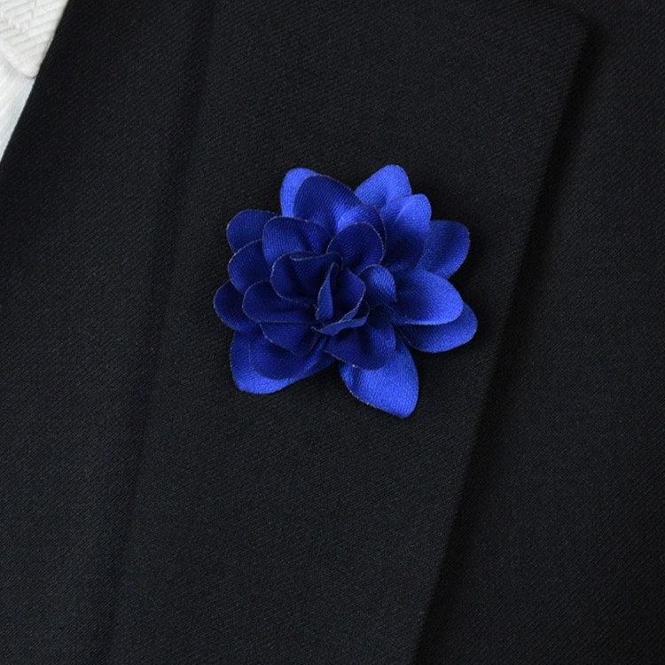 Blue Flower Lapel Pin - Bowties - 1