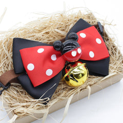 Mickey Mouse Cat & Dog Bow Tie Collar