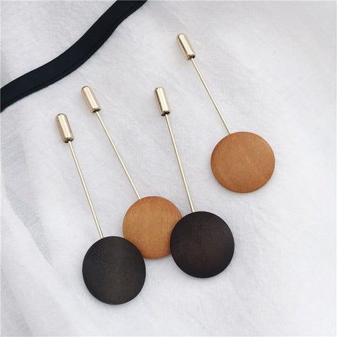 Minimal Wooden Lapel Pin