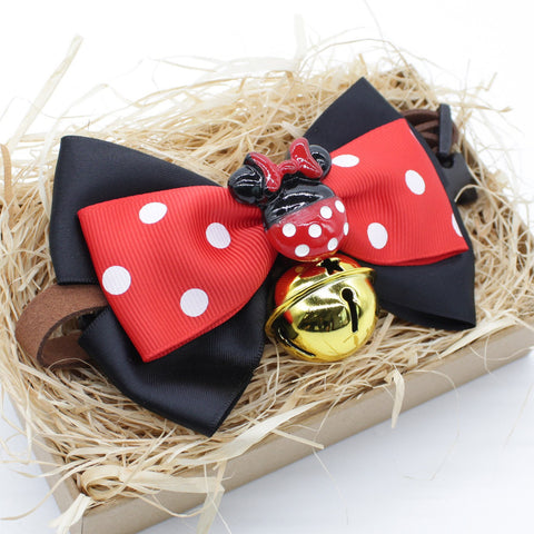 Minnie Mouse Cat & Dog Bow Tie Collar