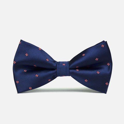 Navy Blue Polka Bow Tie - Bowties