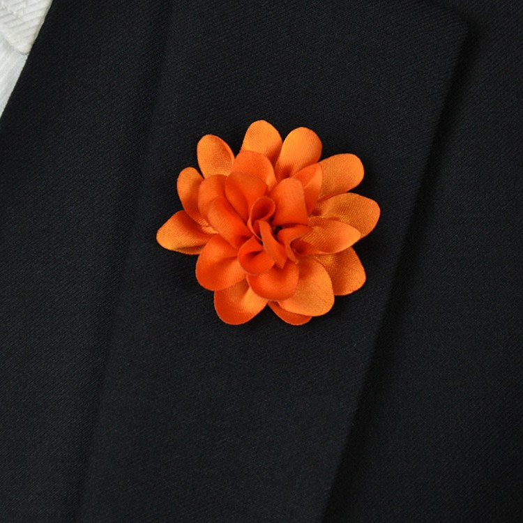Orange Flower Lapel Pin - Bowties - 1