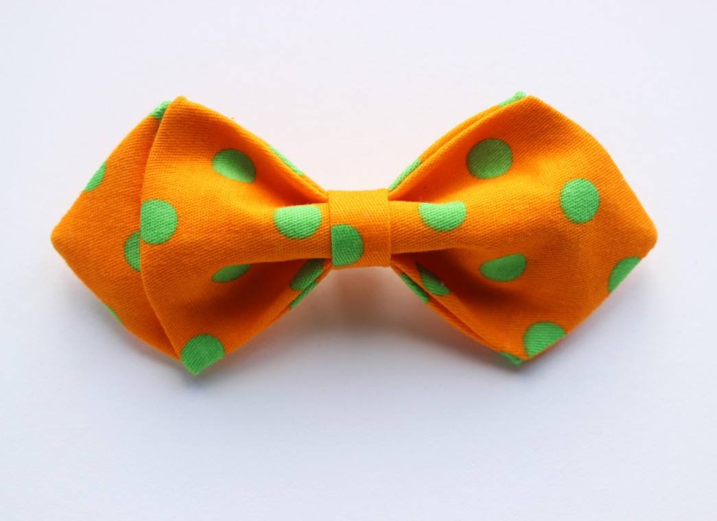 Orange Polka Boys Bow Tie - Bowties - 1