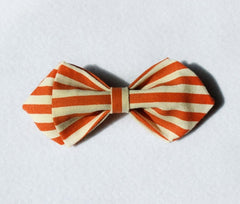 Orange Striped Kids Bow Tie - Bowties - 1