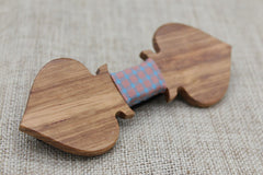 Patterned Ace Wooden Bow Tie - Bowties - 3