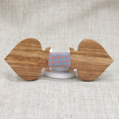 Patterned Ace Wooden Bow Tie - Bowties - 1