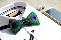 Peacock Feather Bow Tie - Bowties - 3