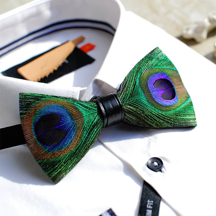 Peacock Feather Bow Tie   Bowties   1