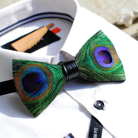 Feather Bow Ties